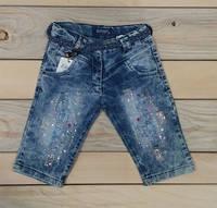 Шорты бриджи джинсовые на девочку со стразами Турция на 4-5 лет, 5-6 лет, 6-7 лет, 7-8 лет на 4-5 лет