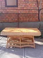 Столы из лозы большой обеденный, фото 1
