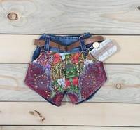 Шорты джинсовые с поясом на девочку 2, 4 и 5 лет
