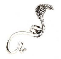 Сережка- защёлка на ухо кобра 1 шт