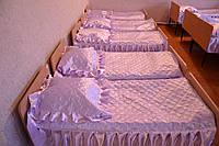 Покрывало в детский сад сиреневое размер 140 х 220 см  рюш с двух сторон по 20 см
