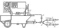 Агрегат штукатурный Т-103 с комплектом принадлежностей для нанесения огнезащитных покрытий