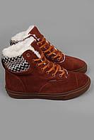 Кеды Vans Hiker.Кеды зимние.Спортивная обувь. Зимние кеды Vans Hiker высокие коричневые с коричневой подошвой