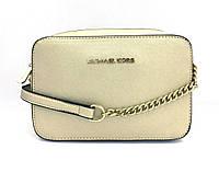 Женская сумка cross-body в стиле Michael Kors (331 jet set) gold, фото 1