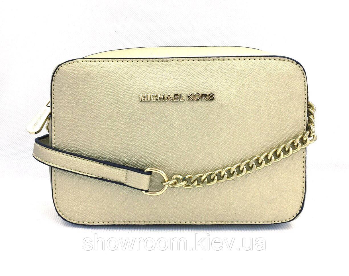 Женская сумка cross-body в стиле Michael Kors (331 jet set) gold