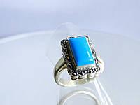 Перстень с бирюзой прямоугольной формы
