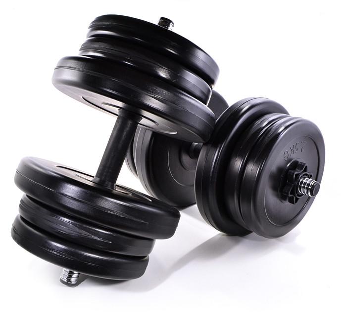 Комплект гантелей 2 шт по 21 кг розбірних із змінними дисками - Neo-Sport в Львове