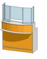 Рабочее (кассовое) место со стеклом (1200х550х1736мм)
