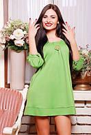 42,44,46,48,50 размеры Платье София оливковое женское свободное короткое трикотажное осеннее красивое