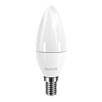 LED лампа MAXUS C37 CL-F 4W 4100K 220V E14 (1-LED-5312), фото 2