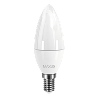 LED лампа MAXUS C37 CL-F 4W 4100K 220V E14 (1-LED-5312)