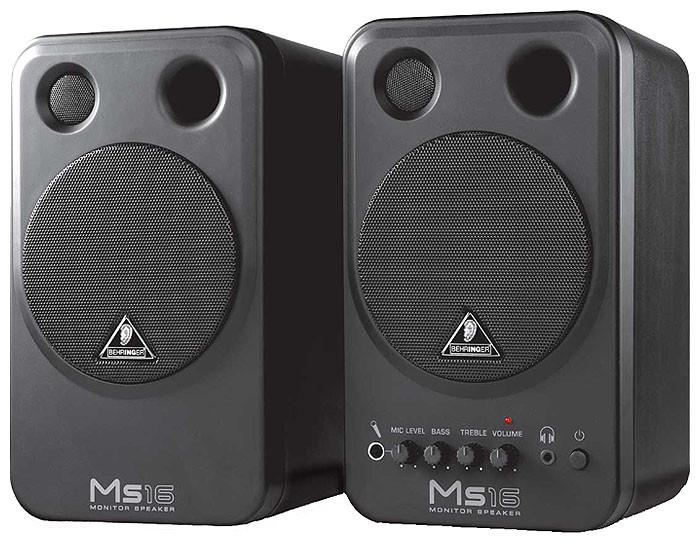 Студийные мониторы (пара) Behringer MS16