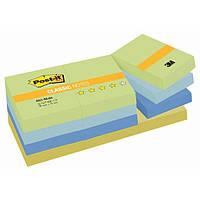 """Набір стікерів Post-it кольорова серія - """"Гармонія балансу"""", 12 блоків 38х51 мм. по 100 л. 653-MLBA"""