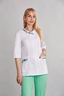 Медицинский костюм женский, Венеция+вышивка-х/б р.40-60