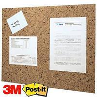 Дошка клейка для обьяв та нагадувань Post-it  коричнева, 457х584 мм 558CB