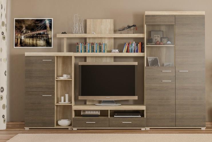Кай-New стенка Мебель-Сервис 3000х400х1972 мм