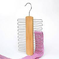 Вешалка (плечики) для аксессуаров с деревянной вставкой