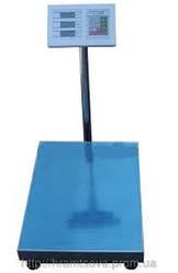Весы платформенные электронные напольные со стойкой на 300/350  кг