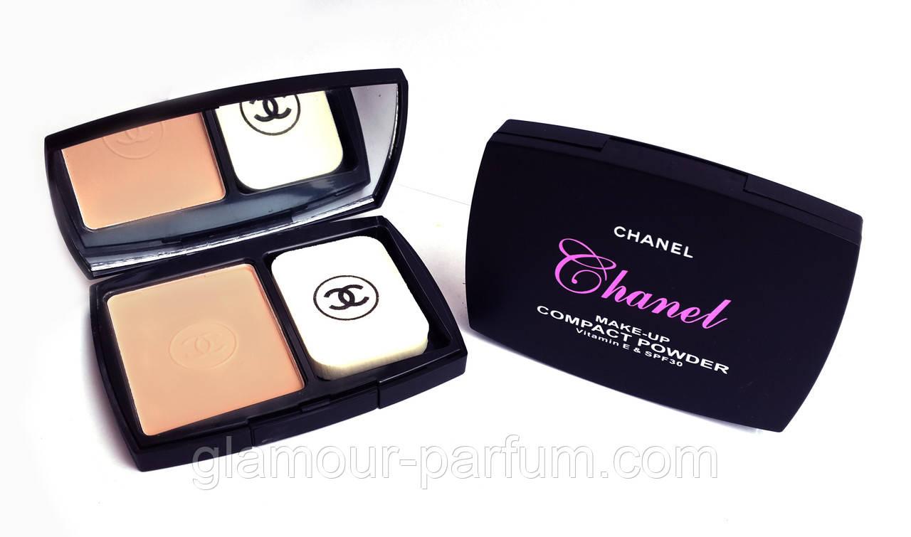 Компактная пудра Chanel (Шанель) с витамином Е