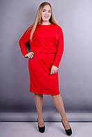 Моника ангора. Платье больших размеров. Красный., фото 1