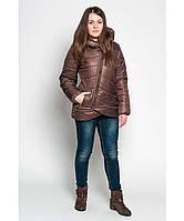 Демисезонная куртка женская колокольчик, шоколад, р.42-48