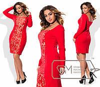 Модное женское платье Батал у-15151003