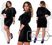 Бархатное женское платье Батал п-151004