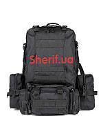 Рюкзак большой 36 литров  с подсумками черный 1000D Black  B7013BK