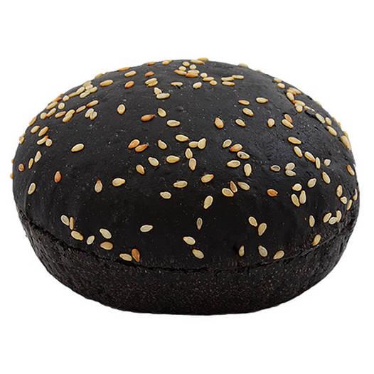 Булочка для гамбургера черная с кунжутом 70г (56шт.)