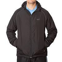 Черная мужская куртка с капюшоном , фото 1