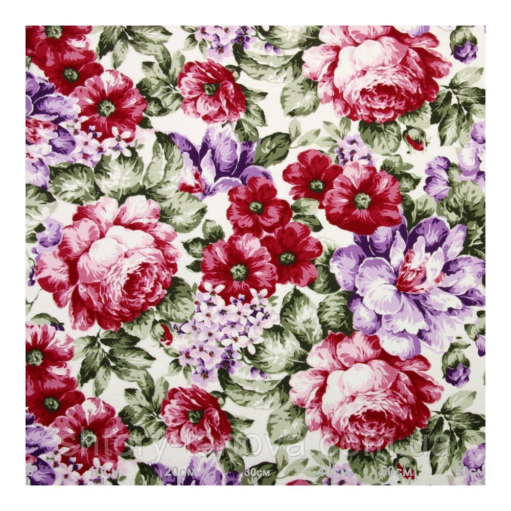 Красивые шторы с цветами малиновый