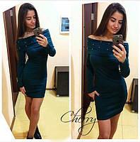 Платье женское с бусинками