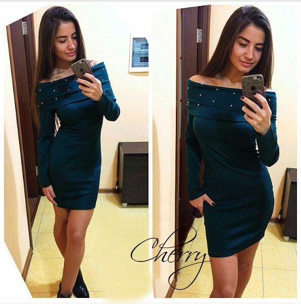 Платье женское с бусинками - Оптово - Розничный интернет магазин Stil -No в Одессе