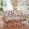 Стильні штори в стилі прованс троянди малиновий, фото 4