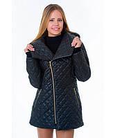 Демисезонная куртка женская модель №14 черная, Размер 42-52