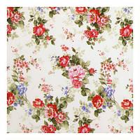 Красивая ткань для штор цветы красный