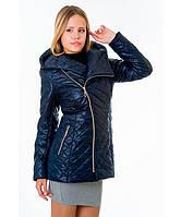 Демисезонная куртка женская модель №14 синяя, Размер 42-52