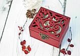 Скринька №2 різьблена заготівля для декору, фото 2