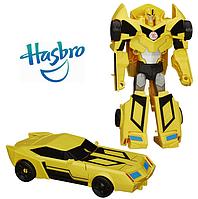 Игрушка Трансформер Бамблби Гиперчэндж трансформация в 3 шага, 23 см оригинал Hasbro