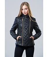 Демисезонная куртка женская модель №11 черная, Размер 42-48