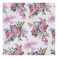 Тканина для штор у стилі прованс троянди рожевий
