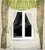 Кухонный комплект, шторки гардина с подвязками е174