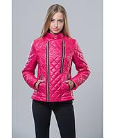 Демисезонная куртка женская модель №11 малиновая, Размер 42-48
