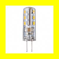 Светодиодная лампа LEDEX Standard 1,5Вт G4 128лм 360º 12В AC-DC чип Epistar Тайвань 4000К  