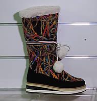 Зимние молодежные цветные сапожки