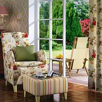 Штори у стилі прованс троянди малиновий, фото 1