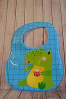 Слюнявчик непромокаемый(5 вариантов) Lindo крокодил