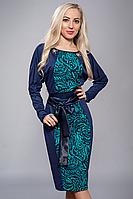 Платье женское узор бирюза 213-7 (52)