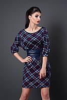 Платье Ангелина принт клетка 228-11