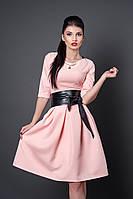 Платье весна-осень 373-4 розов кварц